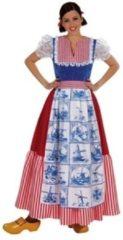 Rode Holland Volwassenenkostuum traditioneel delfts blauwe jurk maat M