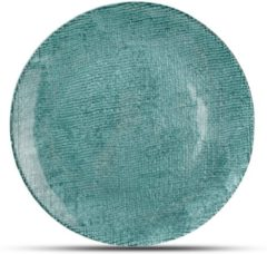 Blauwe Salt&pepper S&P Dessertbord 21cm Blauw/Groen Fabric