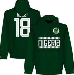 Donkergroene Retake Nigeria Iwobi 18 Team Hooded Sweater - Donker Groen - M