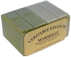 Le Serail ambachtelijke Marseille zeepstukken 2x100g olijf en 2x100g wit