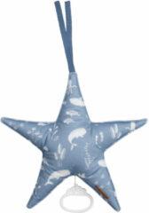 Blauwe Little Dutch muziekdoos Ster 27x27 cm Ocean Blue