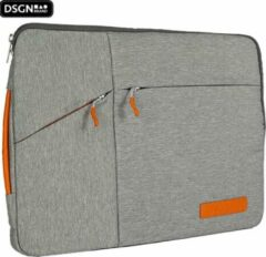Oranje DSGN Laptop Sleeve met Handvat 13 inch - Grijs - Laptoptas - Laptophoes - Apple MacBook Air / Pro Case - 13.3 inch
