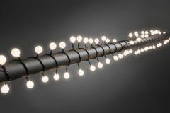 Witte Konstsmide Kerstverlichting buiten - Snoerverlichting globe LED 80 lampjes - 6.3 meter - Warm wit