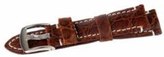 Benson Krokodil Donkerbruin 22mm