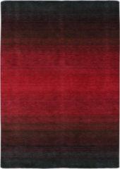Rode MOMO Rugs - Laagpolig vloerkleed MOMO Rugs Panorama Black Red - 80x300 cm