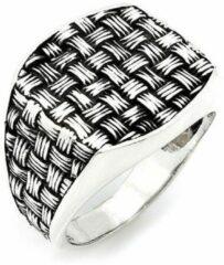 Zijou Zilveren ring heren breipatroon - 19.50 mm / maat 61