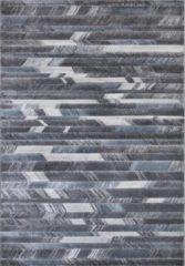Impression Carpets Mykonos Basic Vloerkleed Grijs / Blauw Laagpolig - 200x290 CM