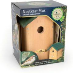 Groene Vogelbescherming nestkastpakket Oklahoma - Huismus Ø34mm