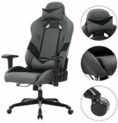 ''merkloos'' Directiestoel - Bureaustoel - Comfortabel - Verstelbaar - Kunststof/nylon - Zwart/Grijs - 69x71,5x135
