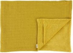 Oranje Les Reves d' Anais Les Rêves d'Anais deken fleece Bliss Mustard