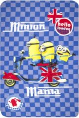 Blauwe Fleece Deken - Minion Mania (100x150cm)Minions