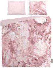 Roze ISeng Marble - Dekbedovertrek - Eenpersoons - 140x200/220 cm + 1 kussensloop 60x70 cm - Pink
