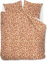 Oranje Beddinghouse Leone dekbedovertrekset van flanel 84CT - inclusief kussenslopen