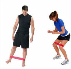 Merkloos / Sans marque Yoga stretchband - rood/oranje - S