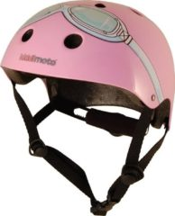 Kiddimoto - Roze bril - Small - Geschikt voor 2-6jarige of hoofdomtrek van 48 tot 52 cm - Skatehelm - Fietshelm - Kinderhelm - Mooie helm