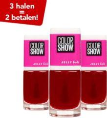 Maybelline Color Show Nagellak - 458 Fuchsianista - 3 Halen = 2 Betalen!