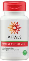 Vitals Vitamine B12 1000 mcg Voedingssupplement - 100 zuigtabletten