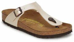 Witte Birkenstock Slippers Dames Gizeh - 943871 White - Normaal
