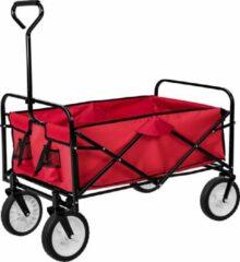 Rode TecTake bolderkar - bolderwagen transportkar - opvouwbaar - 400906