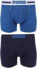 Blauwe Puma placed logo boxer 2p - Sportonderbroek - Heren - blue - S