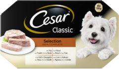 Cesar Alu Multipack Classic Selection In Gelei - Hondenvoer - 4x150 g - Hondenvoer