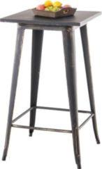 CLP Bartisch LOGAN aus pflegeleichtem Metall I Stehtisch mit Fußstütze I In verschiedenen Farben erhältlich