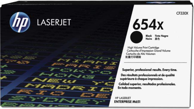 Afbeelding van Zwarte HP 654X - Tonercartridge / Zwart / Hoge Capaciteit