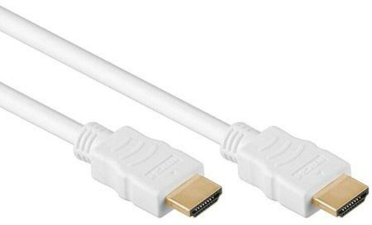 Afbeelding van Goobay HDMI A/HDMI A, 0.5 m HDMI kabel 0,5 m HDMI Type A (Standaard) Wit