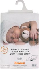Witte Baninni Hoeslaken Jersey 60x120 Wit