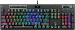 Zwarte T-Dagger Adriatic TGK316 Mechanische Gaming Toetsenbord met achtergrond verlichting   Gaming PC