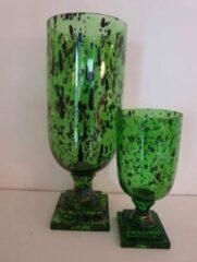 Roon Cheetah vaas op voet groen groot