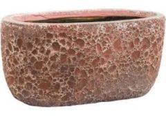 Roze Baq Design Baq Lava Oval S 31x18x15 cm Relic Pink bloempot binnen