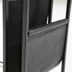 Zwarte Eleonora Bijzettafel 'Dylan' met tijdschriftenhouder, 47 x 29cm