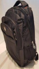 Merkloos / Sans marque Backpack zwart - Met laptopvak met 3 vakjes