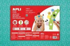 Apli Kids EVA Foam vellen 60 x 40 cm groen met bloemetjes - 3 vel
