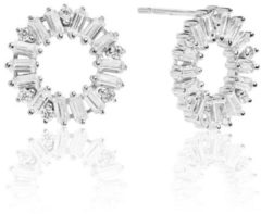 Zilveren SIF JAKOBS JEWELLERY ANTELLA CIRCOLO EARRINGS SJ-E0324-CZ