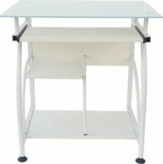 VDD Bureau laptop computertafel - ruimtebesparend - 70 cm x 50 cm - wit