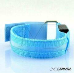 Lichtblauwe Jumada Reflecterende Hardloop Verlichting - Sportarmband - Met LED Verlichting - Hardlopen - Sporten - Blauw