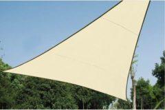 Distrigarden SCHADUWDOEK - WATERDOORLATEND ZONNEZEIL - DRIEHOEK 5 x 5 x 5m, kleur: beige