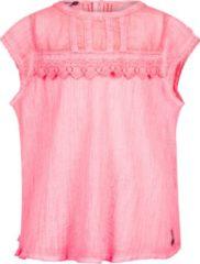 Roze Retour Jeans Meisjes Blouse - Neon pink - Maat 122/128