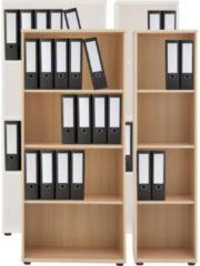 Regal Büroregal Bücherregal Aktenregal Standregal Schrank Büromöbel Omegos 3 VCM Buche