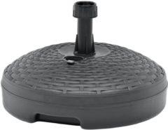 Antraciet-grijze VidaXL Parasolvoet gevuld met zand/water 20 L kunststof antraciet