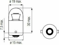 Bosma Lamp 12V-15W BA15S