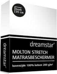 Witte Dreamstar Hoeslaken Molton stretch 120x200-140x220