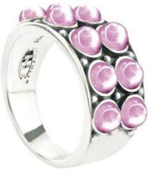 Symbols 9SY 0063 58 Zilveren Ring - Maat 58 - Rhodoniet - Roze - Geoxideerd