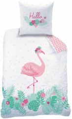 Matt & Rose Dekbedovertrek Flamingo rose 140 x 200 cm + kussensloop 63 x 63 cm - Katoen