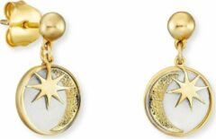 Goudkleurige Engelsrufer Damen-Ohrstecker Ohrstecker Sonne, Mond & Stern 925er Silber One Size 87928144