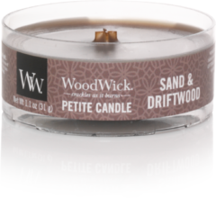 Bruine Woodwick WW Sand & Driftwood Petite Candle