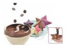 Witte Mastrad Chocolade Tempereer Set - stervormen - met handige kwast