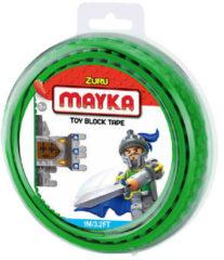 Groene Zuru Mayka Mayka speelgoed blok tape 2 noppen - 1 meter - groen